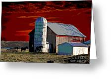 Sundown On The Farm Greeting Card
