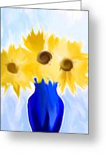 Sunflower Fantasy Still Life Greeting Card