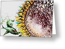 Sunflower Fish 3 Greeting Card