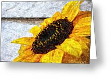 Sunflower Paint Greeting Card