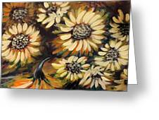 Sunflowers 12 Square Painting Greeting Card