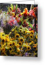 Sunflowers And Glads Greeting Card