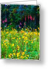Sunflowers And Grasses Greeting Card