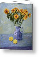 Sunflowers And Lemons Greeting Card