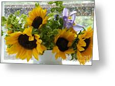 Sunflowers Four Greeting Card