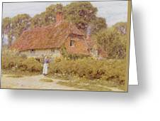 Sunflowers By Helen Allingham Greeting Card
