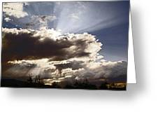 Sunlight And Stormy Skies Greeting Card