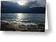 Sunlight And Waves Greeting Card