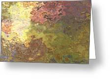 Sunlit Bricks Abstract Greeting Card