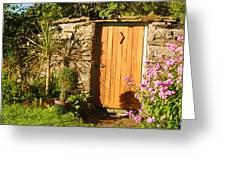 Sunlit Doorway Greeting Card