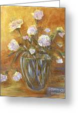 Sunny Carnations In A Vase Greeting Card