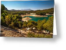 Sunny Day In El Chorro. Spain Greeting Card