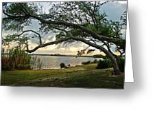 Sunrise Across The Lagoon Greeting Card