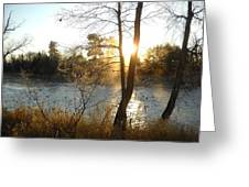 Sunrise Across The Mississippi Greeting Card