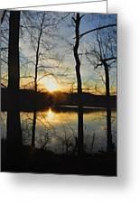 Sunrise Along The Delaware River Greeting Card