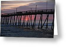 Sunrise At Avalon Pier Greeting Card