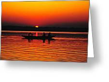 Sunrise At Indian Sea  Greeting Card