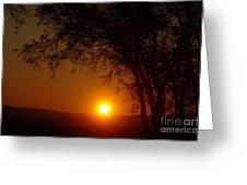 Sunrise At Maryhille  Greeting Card