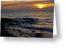 Sunrise At Mt Loretto Beach Greeting Card