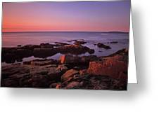 Sunrise At Otter Point Greeting Card