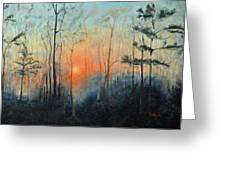 Sunrise At Pike Road Greeting Card