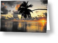 Sunrise At Sea 3 Greeting Card