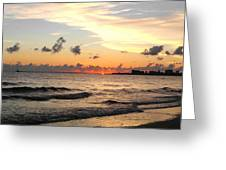 Sunrise At Sea 4 Greeting Card