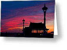 Sunrise At Sisowath Quay. Greeting Card