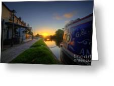 Sunrise At The Boat Inn Greeting Card