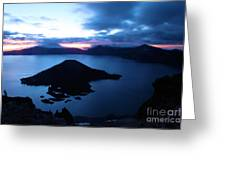 Sunrise At The Crater Greeting Card