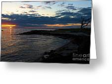 Sunrise At The Edge Greeting Card