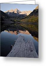 Sunrise At The Maroon Bells Reflected Greeting Card