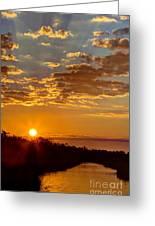 Sunrise Bayou Greeting Card
