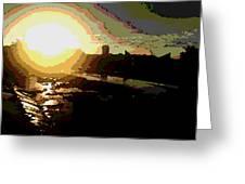 Sunrise Greeting Card by David Alvarez