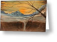 Sunrise End Greeting Card by Shadrach Ensor
