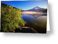 Sunrise Fog On Trillium Lake Greeting Card