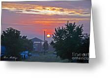 Sunrise From Backyard Greeting Card