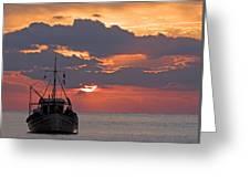 Sunrise In Crete Greeting Card