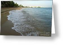 Sunrise In Isla Verde Puerto Rico Greeting Card