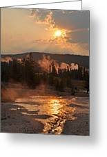 Sunrise Near Yellowstone's Punch Bowl Spring Greeting Card