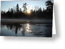 Sunrise On Ice Greeting Card
