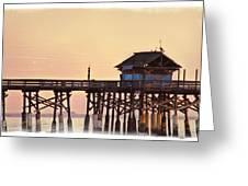 Sunrise On Rickety Pier Greeting Card