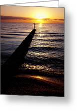 Sunrise On The Coast Greeting Card