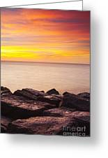 Sunrise On The Jetty Texas Greeting Card