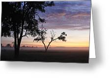 Sunrise On The Masai Mara Greeting Card