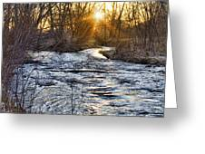 Sunrise On The St Vrain River Greeting Card