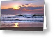 Sunrise On The Waves Greeting Card