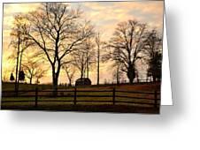 Sunrise Over A Barn Greeting Card