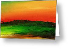 Sunrise Over Cane Field Greeting Card