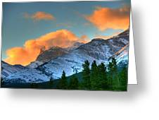 Sunrise Over Crowsnest Pass, Border Greeting Card